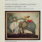 Graciela Rodo Boulanger 1980 Art Exhibition Ad Publicite Advert Harcourts Gallery, San Francisco