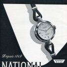 Vintage 1956 National Watch Co La Chaux-de-Fonds Switzerland Swiss Print Ad Suisse Publicite Montres