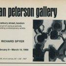 Richard Spyder Vintage 1968 Art Exhibition Ad Publicite Advert
