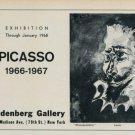 Picasso Vintage 1968 Art Exhibition Ad Publicite Advert Mousquetaire Saidenberg Gallery