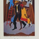 1974 Jacob Lawrence The Builders Vintage 1974 Art Ad Publicite Advert