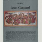 Leon Gaspard Vintage 1974 Art Exhibition Ad Publicite Advert Kennedy Galleries, NY