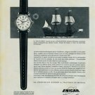1957 Enicar Watch Company Tresor du Mayflower 1957 Swiss Ad Suisse Advert