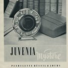 1955 Juvenia Mystere Clock Ad Publicite Suisse Vintage Swiss Print Ad Switzerland 1950s
