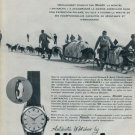 1957 Nivada Watch Company U.S. Navy Antarctic Expedition Swiss Print Ad Publicite Suisse Montres