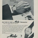 1958 Mido Mido Datometer Watch Advert Publicite Suisse Swiss Print Ad Switzerland Mido Watch Co