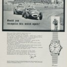 1958 Enicar Watch Company Stirling Moss Vintage 1958 Swiss Ad Suisse Advert