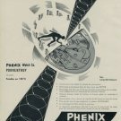 Vintage 1955 Phenix Rollamatic Watch Advert 1950s Swiss Print Ad Publicite Suisse Montres
