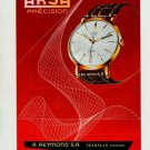 1957 Arsa Watch Co Auguste Reymond SA Original Swiss Print Ad Publicite Suisse ontres