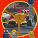1971 Cyma Watch Co Synchron SA Original Swiss Print Ad Publicite Suisse Montres Schweiz