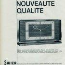 1963 Swiza Clock Company Louis Schwab S.A. 1963 Swiss Ad Suisse Advert Horlogerie Horology