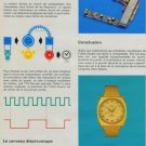 Longines Watch Company Vintage 1971 Swiss Ad Suisse Advert Horology Cybernetique Multi-Page