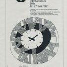 1971 Foire de Bale Swiss Watch Fair Basle Switzerland 1971 Swiss Ad Suisse Advert