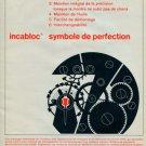 1963 Incabloc Porte-Echappement Universel S.A. 1963 Swiss Ad Suisse Advert Horology Horlogerie