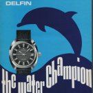 Edox Watch Company Delfin Water Champion 1975 Swiss Ad Suisse Advert Horology