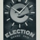 Election Watch Company Switzerland Vintage 1955 Swiss Ad Suisse Advert Horology