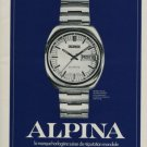 Alpina Watch Company Switzerland Vintage 1975 Swiss Ad Advert Suisse Horlogerie