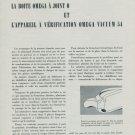 1955 Omega Watch Company La Boite Omega a Joint O Vintage 1955 Swiss Magazine Article Horlogerie