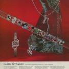 1975 Jeweler Eugen Dettinger Pforzheim Germany Vintage 1975 Swiss Ad Suisse Advert