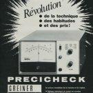 1975 Greiner Electronic Company Precicheck Ad Publicite Swiss Print Ad Swiss Magazine Advert