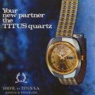 Solvil & Titus Watch Company Switzerland 1975 Swiss Ad Advert Suisse Horlogerie