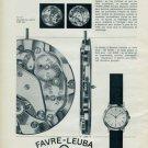 1963 Favre-Leuba Watch Company Geneva Vintage 1963 Swiss Ad Suisse Advert Horlogerie