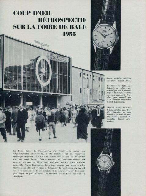 1955 Retrospectif La Foire de Bale Swiss Watch Fair Basle 1955 Swiss Clipping
