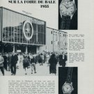 1955 Retrospectif La Foire de Bale Swiss Watch Fair Basle 1955 Swiss Clipping