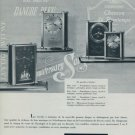 1955 Jaeger-LeCoultre Clock Company Geneva Switzerland Vintage 1955 Swiss Ad Suisse Advert