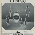 Arctos Watch Company Germany Vintage 1975 Swiss Ad Advert Philipp Weber  AG