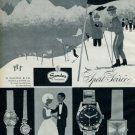 1963 Sandoz Watch Company Switzerland Vintage 1963 Swiss Ad Suisse Advert Horology