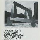 Sculptor James Rosati Vintage 1974 Art Ad Ideogram World Trade Center NY
