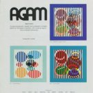 1974 Yaacov Agam Vintage 1970's Art Ad Advert Advertisement