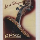 Arsa Watch Company Vintage 1946 Swiss Ad Tramelan Switzerland Suisse Advert
