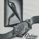 Certina Watch Company Vintage 1946 Swiss Ad Grenchen Switzerland Suisse Advert