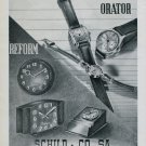 1946 Orator Watch Company Reform Clock Co. Schild & Co SA 1946 Swiss Ad Suisse Advert