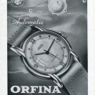 1946 Orfina Watch Company Grenchen Switzerland Vintage 1946 Swiss Ad Suisse Advert