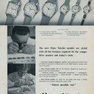 1960 Marc Nicolet Watch Company Switzerland Vintage 1960 Swiss Ad Suisse Horlogerie Advert Horology