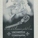 1946 Vacheron & Constantin Watch Company Switzerland Vintage 1946 Swiss Ad Suisse Advert Horlogerie