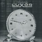1946 Luxor Clock Company Le Locle Switzerland Vintage 1946 Swiss Ad Suisse Advert Horlogerie