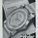 1946 Wyler Watch Company Bienne Switzerland Vintage 1946 Swiss Ad Suisse Advert Horlogerie