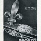 1946 Pronto Watch Company Switzerland Vintage 1946 Swiss Ad Suisse Advert Horology