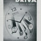 1946 Driva Watch Company Vintage 1946 Swiss Ad Geneva Switzerland Geneve Suisse Advert