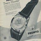 1957 Pronto Watch Company Le Noirmont Switzerland Vintage 1957 Swiss Ad Suisse Advert
