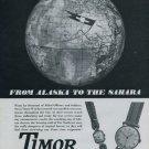 1946 Timor Watch Company Switzerland Vintage 1946 Swiss Ad Suisse Advert J Bernheim Co.