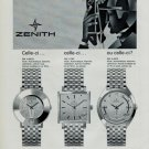 1967 Zenith Watch Company Le Locle Switzerland Vintage 1967 Swiss Ad Suisse Advert Horology