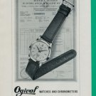 1960 Ogival Watch Company La Chaux-de-Fonds Switzerland Vintage 1960 Swiss Ad Suisse Advert