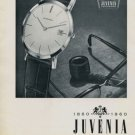 1960 Juvenia Watch Company Centenary 100 Year Anniversary Vintage 1960 Swiss Ad Suisse Advert