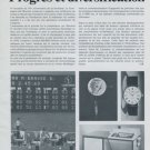 1977 Longines Watch Company Progres et Diversification 1977 Swiss Magazine Article Horlogerie