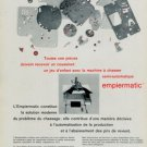 Empiermatic Vintage 1969 Swiss Ad Suisse Advert Horology Horlogerie Reno SA